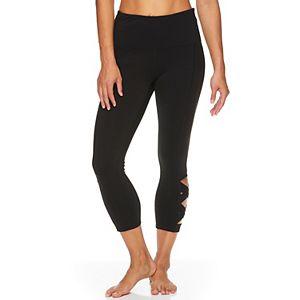 Women's Gaiam Om High-Waisted Lotus Capri Leggings