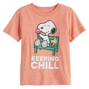 "Baby Family Fun Peanuts Snoopy ""Keeping Chill"" Graphic Tee"