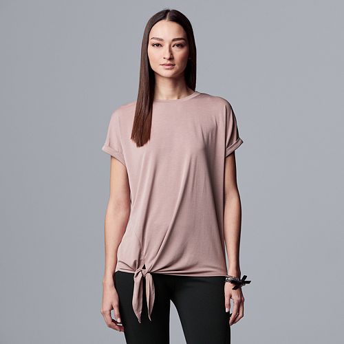 Women's Simply Vera Vera Wang Side Tie Dolman Sleeve Tee