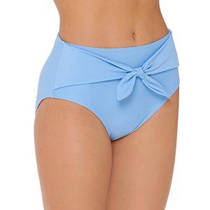 Mix and Match Tie-Front High Waist Bikini Bottoms