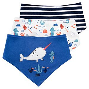 Baby Mac & Moon 3-Pack Bandanna Bibs