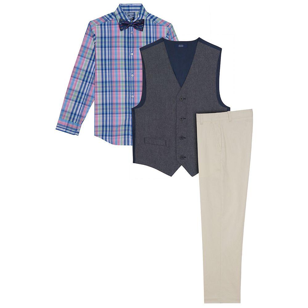 Boys 8-20 IZOD Oxford Shirt, Vest & Pants Set