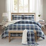 True North Comfort Spaces Garret Plaid Print Sherpa Comforter Set & Throw