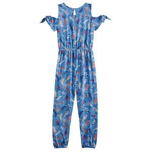 Girls 6-20 Mudd Knot Cold-Shoulder Jumpsuit
