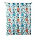 Freshee Floral Water Repellent & Odor Resistant Shower Curtain & Liner