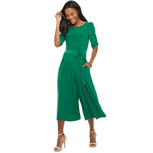 Women's ELLE? Ruched Sleeve ITY Jumpsuit