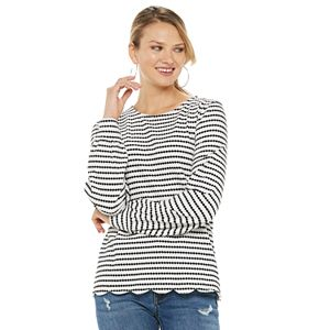 Women's ELLE? Scallop Hem Sweatshirt