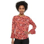 Women's ELLE? 3/4 Bell Sleeve Blouse
