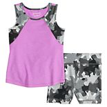 Toddler Girl Jumping Beans® Active Tank Top & Bike Shorts Set