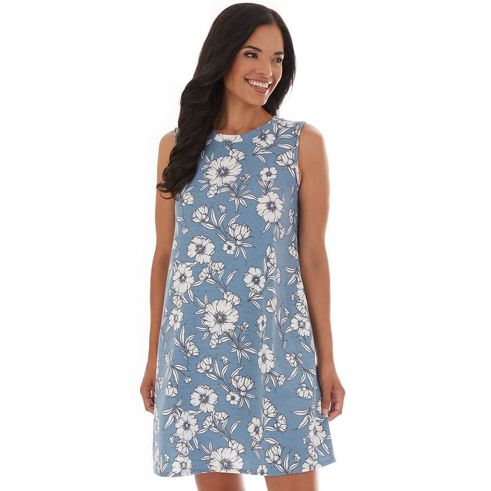 Petite Apt. 9® Floral French Terry Swing Dress