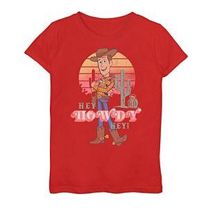 Girls 7-16 Disney / Pixar Toy Story Woody Retro Portrait Graphic Tee