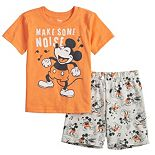 """Disney's Mickey Mouse Baby Boy """"Make Some Noise"""" Tee & Shorts Set by Jumping Beans®"""