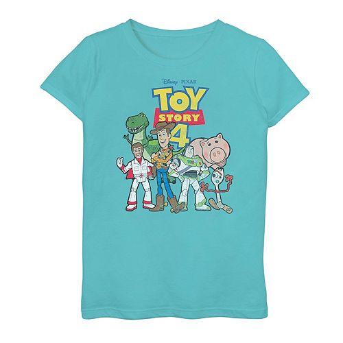 Disney / Pixar Toy Story 4 Girls 7-16 Movie Logo Poster Graphic Tee