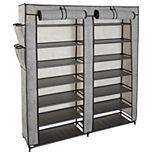 Simplify 7 Tier Double Wide 14 Shelf Shoe Closet