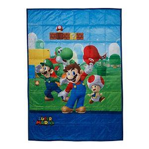 Kids Nintendo Super Mario Level Up Mario Weighted Blanket