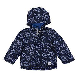 Toddler Boy OshKosh B'gosh® Color Changing Ombre Shark Hooded Lightweight Rain Jacket