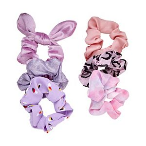 SO® Metallic, Flower, Velvet, & Heart Prints Scrunchie Set