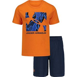 Boys 4-7 Under Armour Diverge Logo Box Tee & Short Set