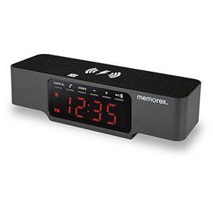 Memorex Wireless Charging Alarm Clock Speaker