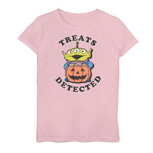 """Girls 7-16 Disney / Pixar Toy Story Alien """"Treats Detected"""" Graphic Tee"""