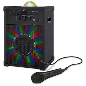 GPX Bluetooth Karaoke Party Machine with Lights