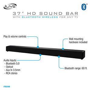 iLive 37-in. Soundbar with Bluetooth