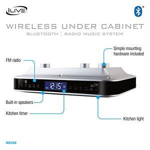 iLive Bluetooth Under Cabinet Music System