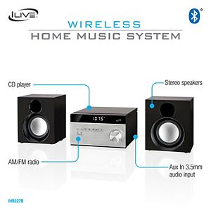 iLive Home AM/FM Music System with Bluetooth