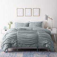 Deals on LC Lauren Conrad 3 pc. Ruched Comforter Set Full/Queen