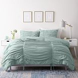 LC Lauren Conrad 3 pc. Ruched Comforter Set