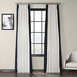 EFF Pleated Vertical Colorblock Window Curtain