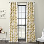 EFF Triad Grommet Printed Cotton Twill Window Curtain