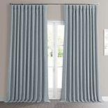 EFF Faux Linen Extra Wide Blackout Window Curtain