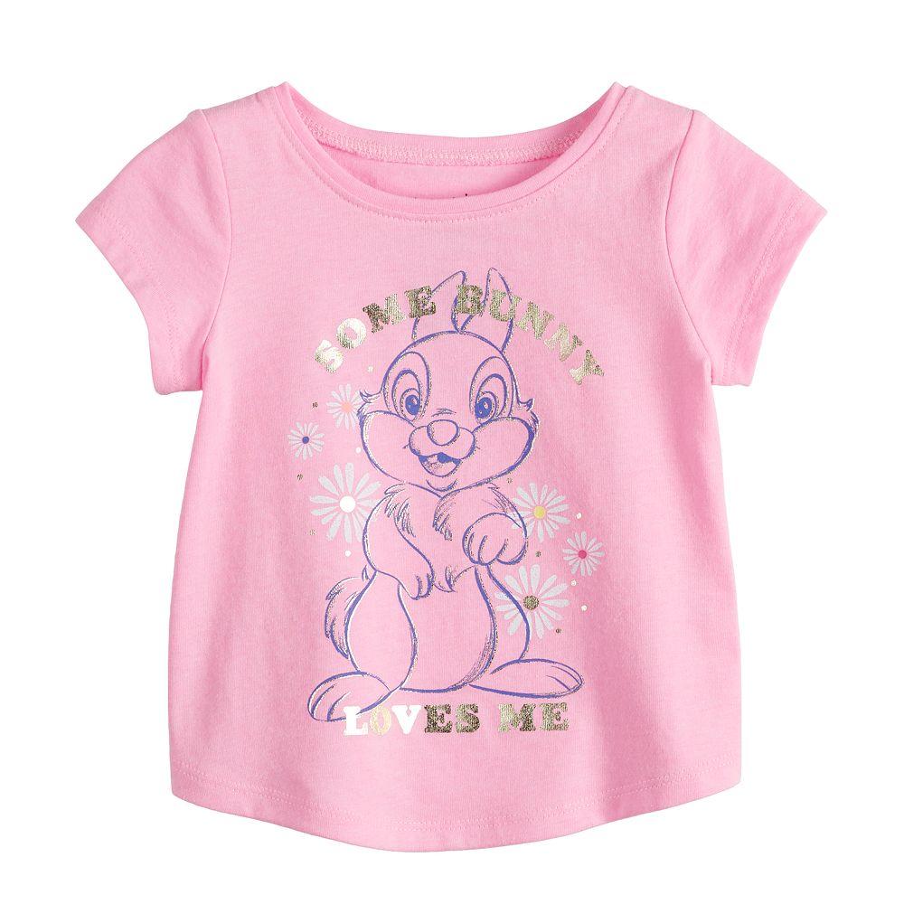 Disney's Bambi Thumper Baby Girl Shirttail-Hem Tee by Jumping Beans®