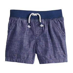 Baby Boy Jumping Beans Rib Waist Woven Shorts
