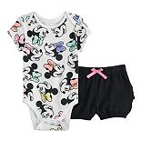 Disney's Minnie Mouse Baby Girl Bodysuit & Ruffled Bubble Shorts by Jumping Beans®