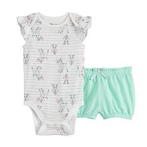 Disney's Bambi Baby Girl Flutter Bodysuit & PaperBag Shorts by Jumping Beans®