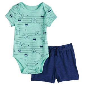 Disney's Winnie The Pooh Baby Print Bodysuit & Shorts Set by Jumping Beans®