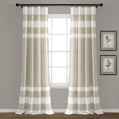 Lush Decor 2-pack Cape Cod Stripe Yarn Dyed Cotton Window Curtains
