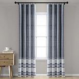 Lush Decor 2-pack Nantucket Yarn Dyed Cotton Tassel Fringe Window Curtains