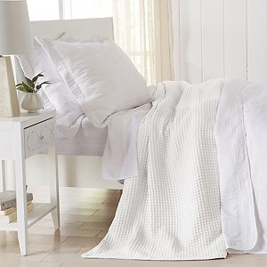 Great Bay Home Mikala Waffle Weave Cotton Blanket