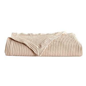 Great Bay Home Mikala Waffle Weave Cotton Blanket