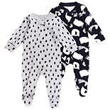 Baby Mac & Moon 2-Pack Footed Sleep & Plays in Animal Print