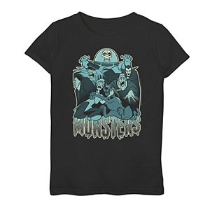"""Girls 7-16 Scooby-Doo Shaggy & Scooby """"Monsters"""" Graphic Tee"""