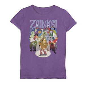 """Girls 7-16 Scooby-Doo Shaggy & Scooby """"Zoinks"""" Graphic Tee"""