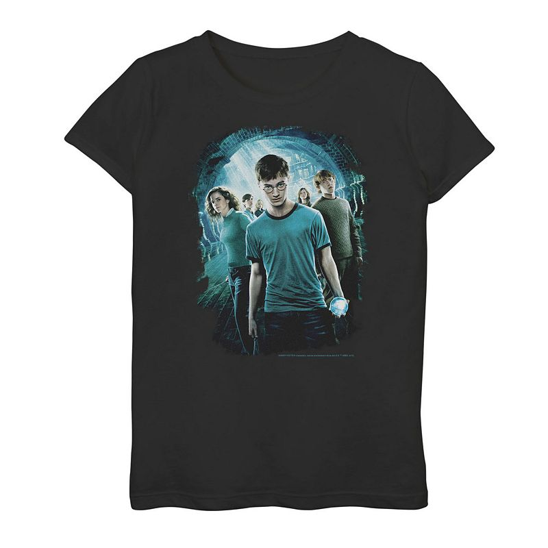 Girls 7-16 Harry Potter Department Of Mysteries Group Shot Tee, Girl's, Size: XL, Black