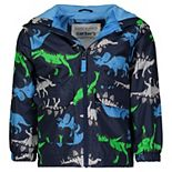 Baby Boy Carter's Lightweight Disaur Print Rain Jacket