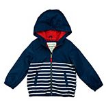 Baby Boy Carter's Lightweight Striped Windbreaker Hooded Jacket