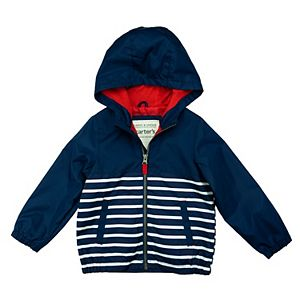 Baby Boy Carter's Lightweight Striped Windbreaker Hooded Jacket