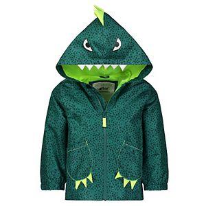 Toddler Boy Carter's Dinosaur Lightweight Hooded Rain Jacket